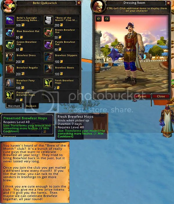 Brewfest Vendor Items