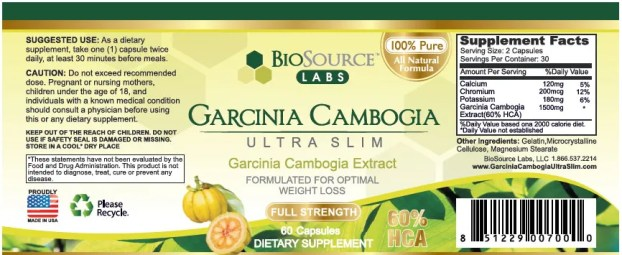 garcinia cambogia ultra slim ingredients
