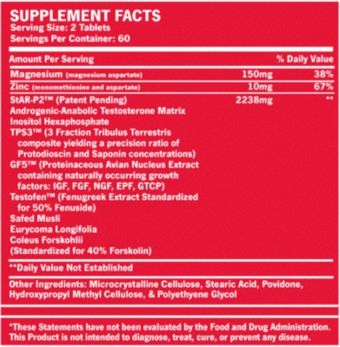 axis-ht ingredients