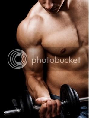 instant knockout man lifting dumbbells