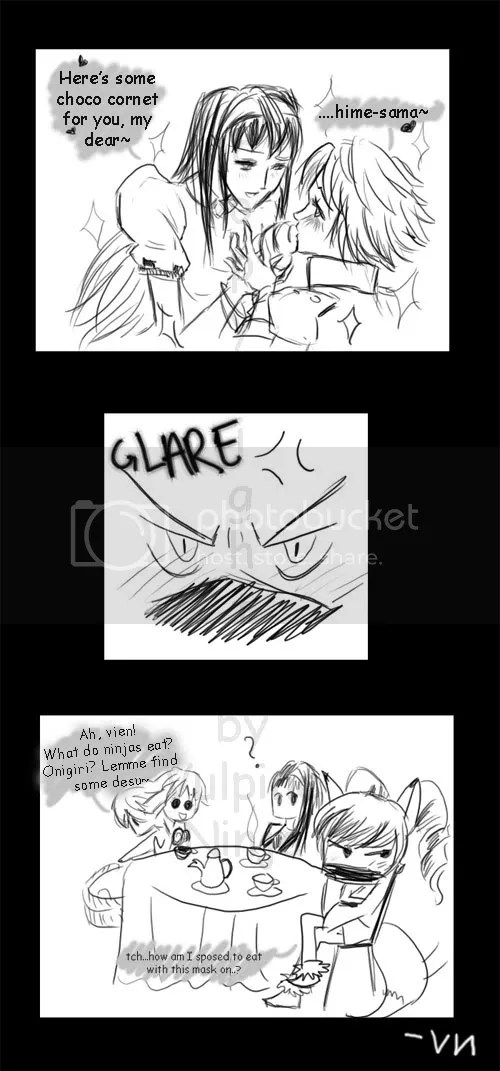 I personally love the first panel...XD;;