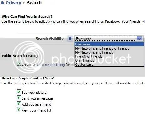 Facebook Search Privacy