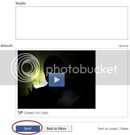 Facebook video click on send