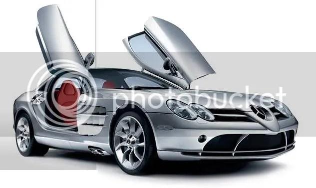 SLR McLaren Roadster with swing doors up