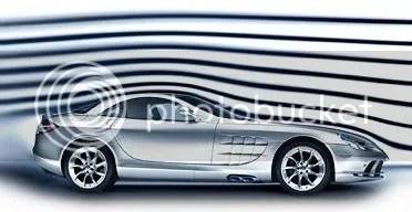 SLR McLaren Roadster aerodynamics