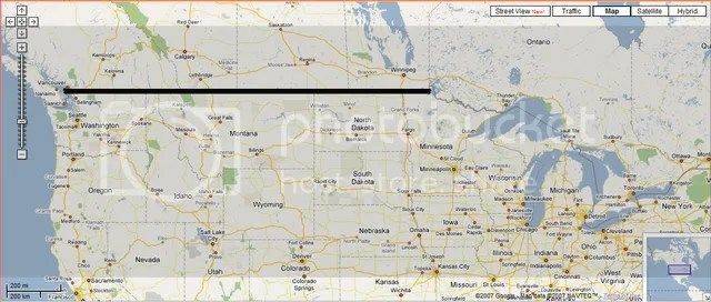 Strange Maps: Border between Canada and USA | Proud Geek