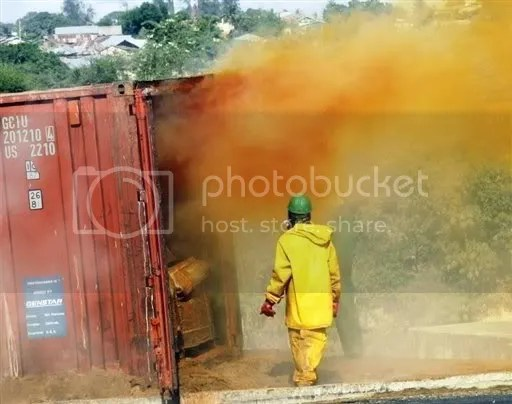 Mombasa - KCCL container toxic leak