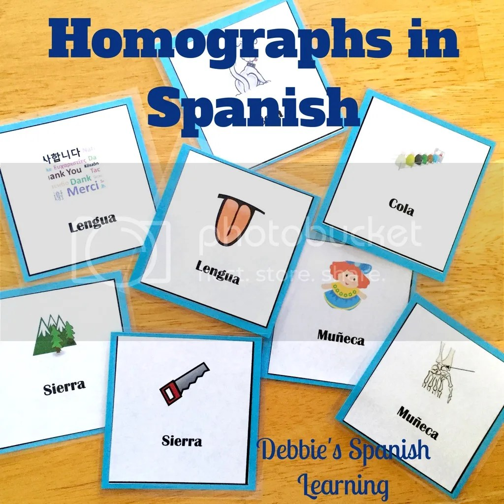 Debbie S Spanish Learning Teaching Words With Multiple