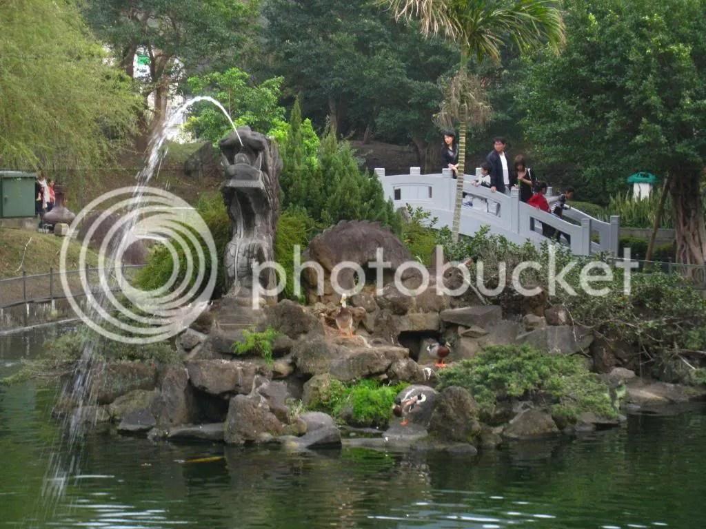 Dragon fountain thing.. duck island if you want :P