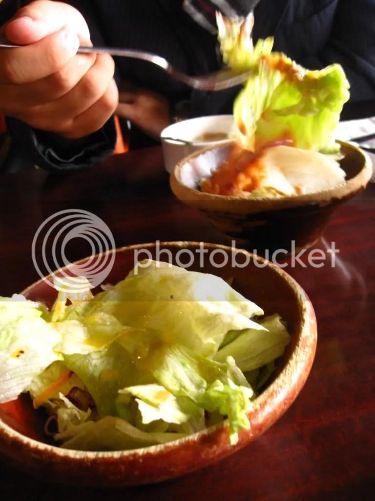 Then salad..