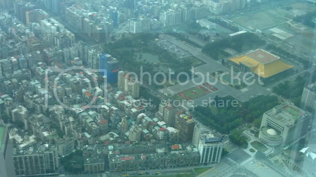 The yellow roof building is Dr. Sun Yat memorial hall (with all the dancers/lanterns)