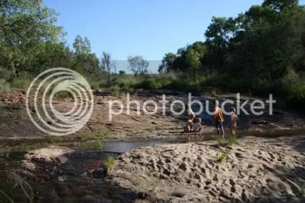 kids in the river