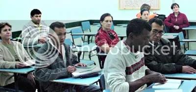 Uma das salas de aula
