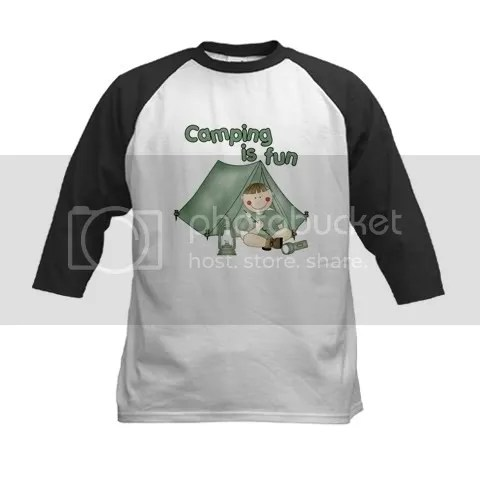 Camping Is Fun (Boy) Kids Baseball Jersey