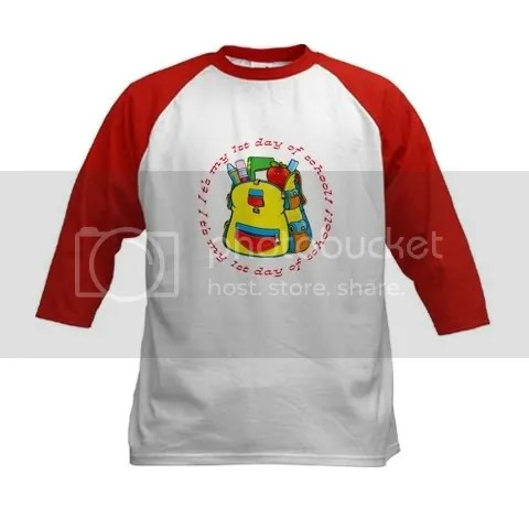 First 1st Day of School Kids Baseball Jersey