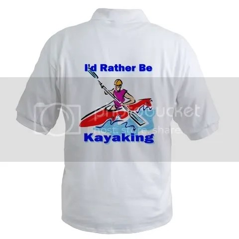 I'd Rather Be Kayaking Polo Shirt