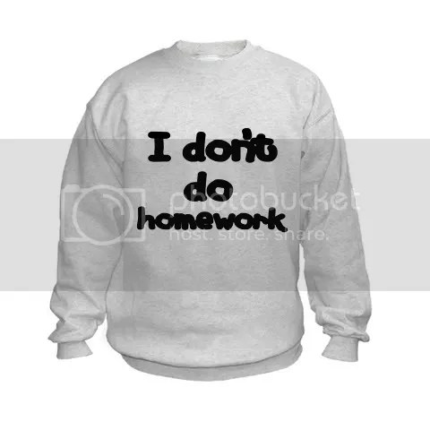 I don't do homework Kids Sweatshirt