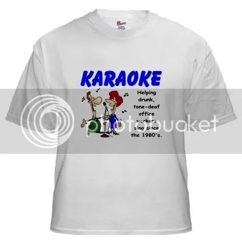 Karaoke White T-Shirt