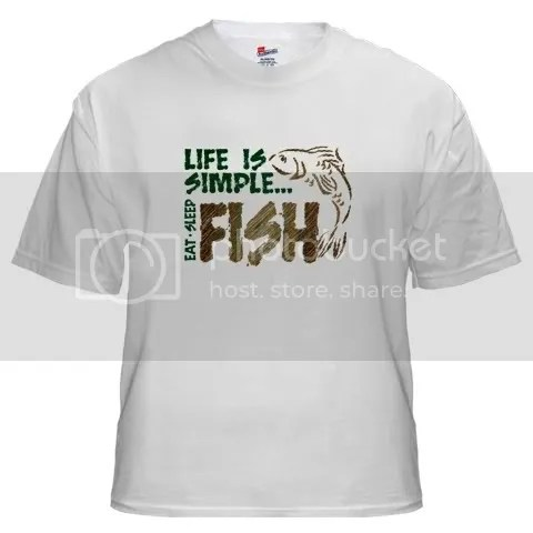 Life Is Simple...FISH White T-Shirt