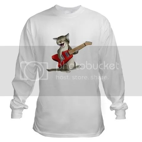 Rockin Cat Long Sleeve T-Shirt