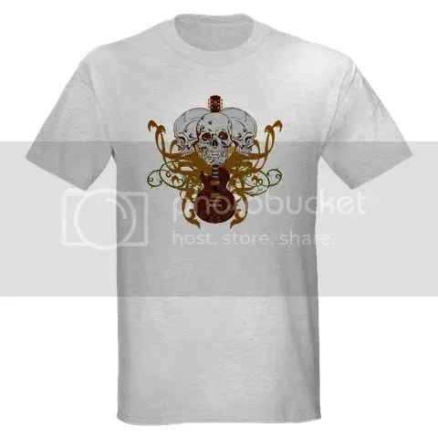 Rustic skulls and guitar design with a vintage look T-Shirt