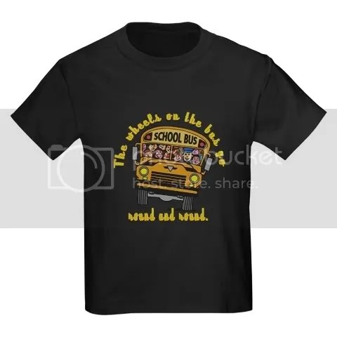 School Bus Kids Kids Dark T-Shirt