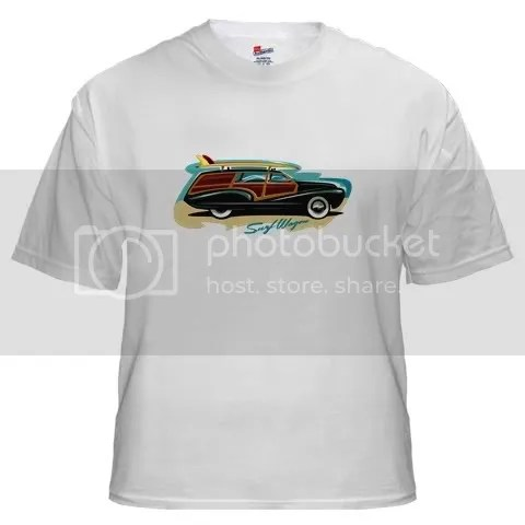 Surf Wagon Woody White T-Shirt