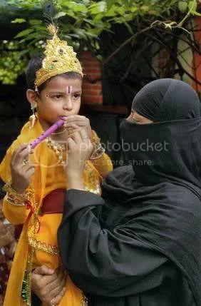 Muslim mother Krishna son