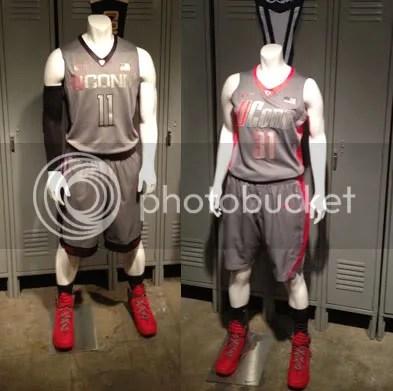 b16f0501953 ... superior quality 552cb 584d2 Nike Hyper Elite Platinum UConn Huskies  mens and womens basketball uniforms ...