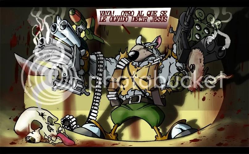 Aqui el mitico personaje (si es una rata)