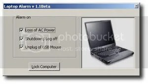 screenshot laptop alarm Proteger Tu Laptop con Laptop Alarm