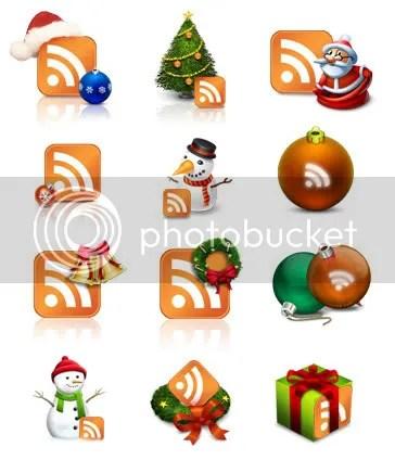 Iconos RSS navidad
