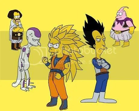 Los Simpsons versión Dragon Ball