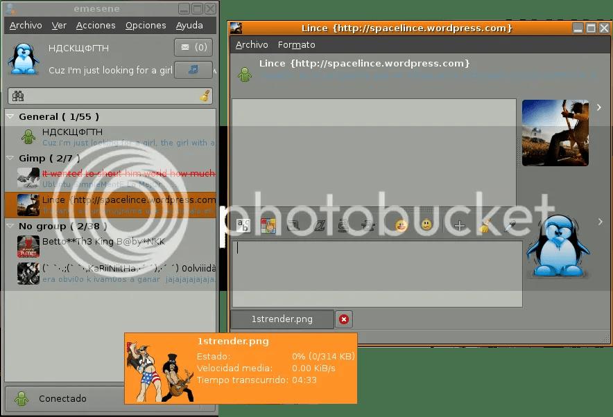 Captura del eMeSeNe con una transferencia de archivos