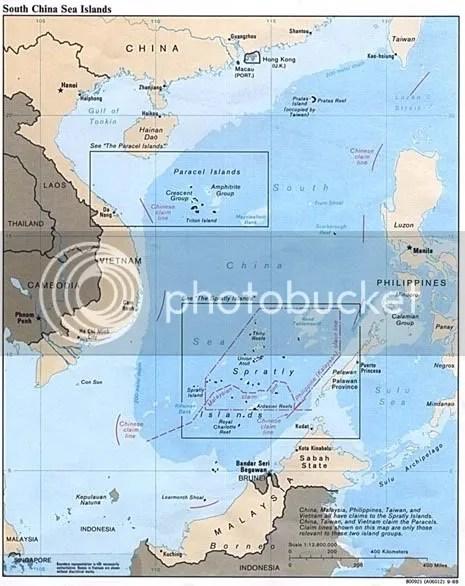 Bản đồ hải ph��n của TQ  4/9/1958 - 9 gạch
