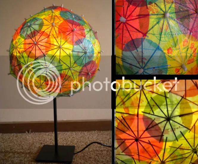 Cocktail Umbrella Lamp