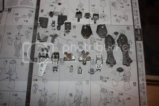 Parts for the inner frame of the leg