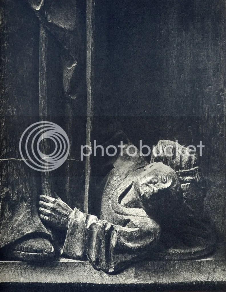 Sta Catarina pisando o erro- cadeiral da catedral de Bois-le-Duc