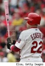 Eck with the pink bat