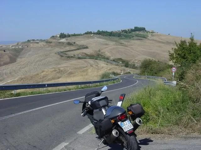 Southwest from Siena