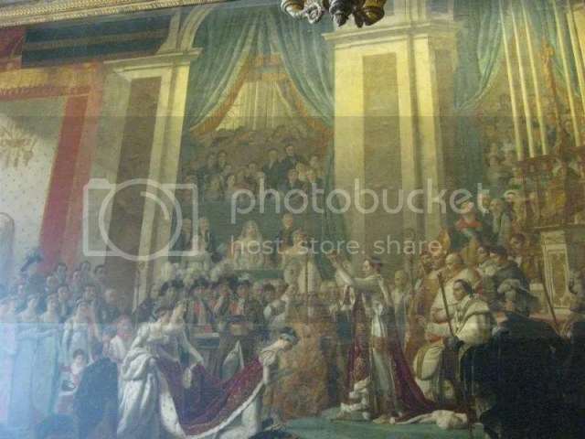 Does this look familiar? Yes! It is the coronation of napoleon painting.. but.. this is the REPLICA. the real thing is in Louvre =p photo 428518_10151088181956209_706178427_n.jpg