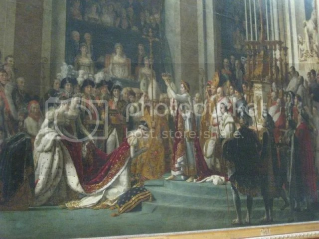 The Coronation of NapoleonThis is another pretty famous painting. (The lighting or rather the colour of the painting itself was really bad)The painting and title is very misleading. Napoleon is supposed to be the main character according to the n photo 599492_10151088175201209_1199832509_n.jpg