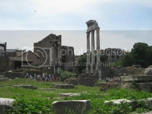 The Roman Forum. The Forum Romanum was the center of life in imperial Rome, evidenced by the many remains of triumphal arches, temples and basilicas. photo 425516_10151099493976209_1204814780_n.jpg