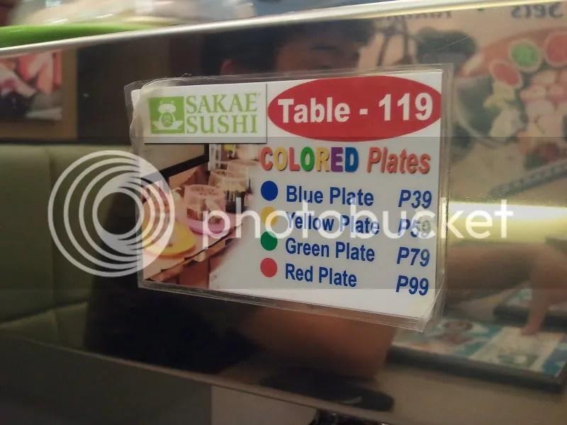 Sakae Sushi plate prices