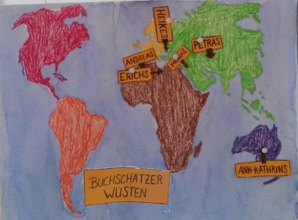 Landkarte Wüstenthema