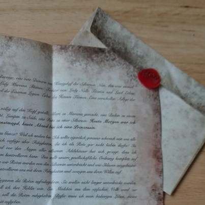 Rote Koenigin Brief