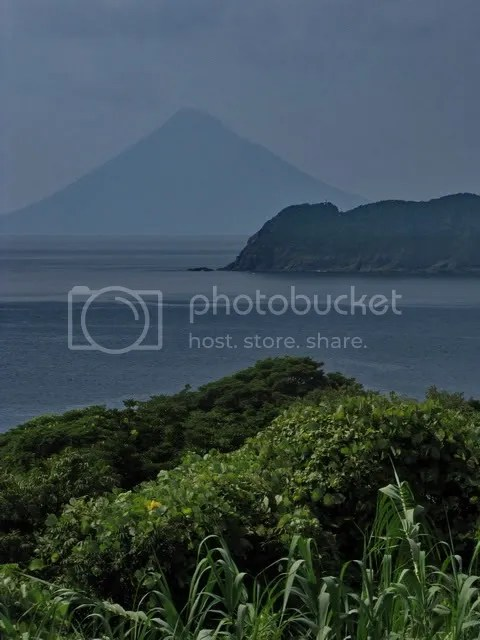 One of the cool volcanic mountains across the bay