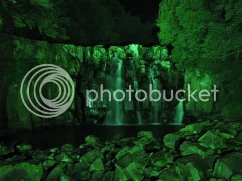 Seki-no-o Falls during Light Up