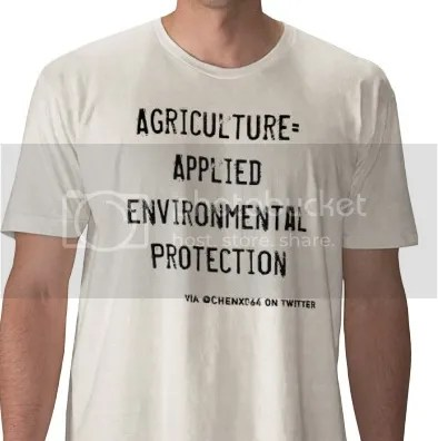 New shirt in support of the agriculture industry.