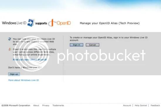 Menggunakan Windows Live ID sebagai OpenID